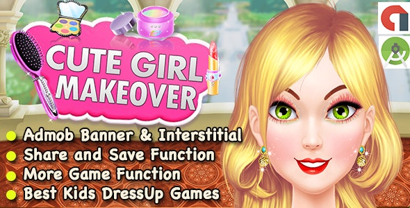 Best Cute Girl Makeover Game For Kids + Ready For Publish + Android - CodeCanyon Item for Sale
