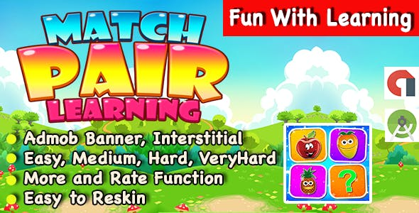 Match Pair With Learning Puzzle Game For Kids + Ready For Publish + Android