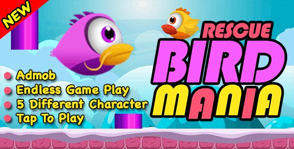 Rescue Bird Mania + Flappy Bird Endless Run + Android