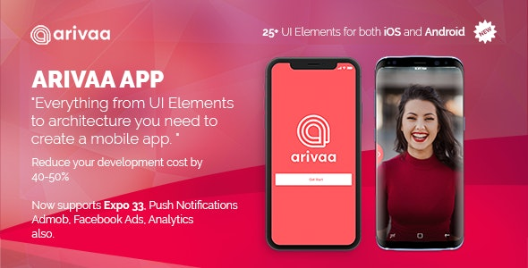 Arivaa - React Native Theme (Basic Version | Expo 33 ) - CodeCanyon Item for Sale