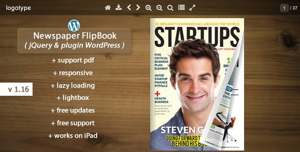 Flipbook WordPress Plugin Newspaper