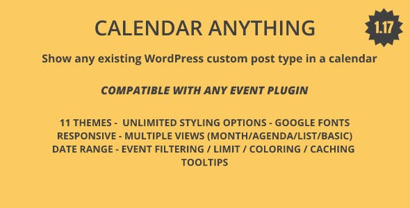 Calendar Anyting | Show any existing WordPress custom post type in a calendar