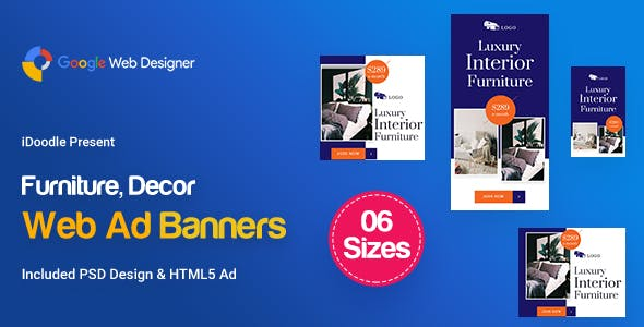 C71 - Furniture, Decor Banners GWD & PSD