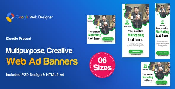 C74 - Multipurpose, Business, Startup Banners GWD & PSD