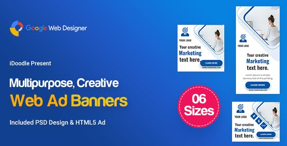 C75 - Multipurpose, Business, Startup Banners GWD & PSD
