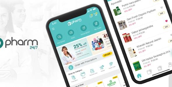 Online Medicine Delivery App- iOS templates