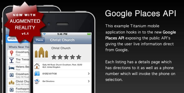 iPhone Google Places API example app - CodeCanyon Item for Sale