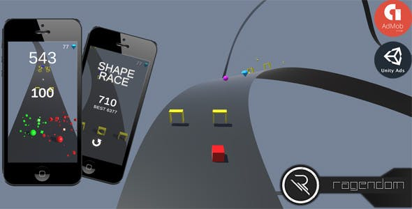 Shape Race - Complete Unity Game + Admob