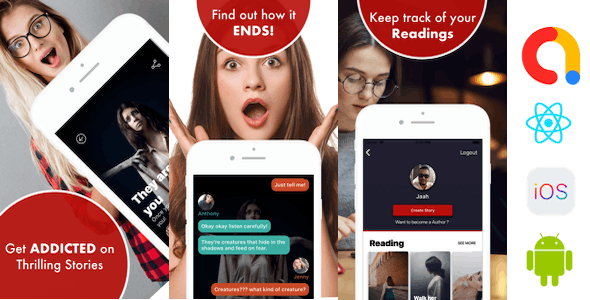 Addicted - Chat & Text Stories React Native Application