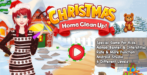 Christmas Home CleanUp + Special Kids Games + Android