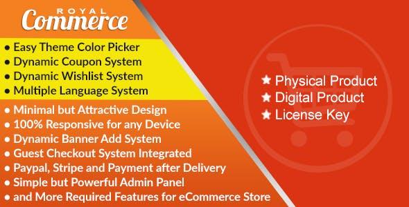 RoyalCommerce - Laravel Ecommerce System with Physical and