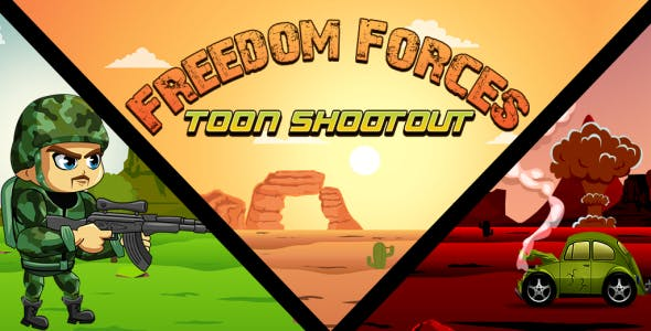 Freedom Forces - Toon Shootout Corona Sdk Game