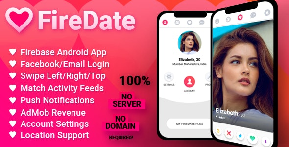 FireDate - Android Firebase Dating Application - CodeCanyon Item for Sale