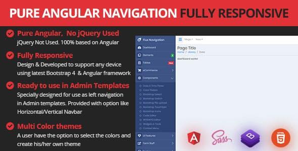 Responsive Angular Sidebar Navigation Menu - CodeCanyon Item for Sale