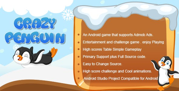 Crazy Penguin Android Admob Ads