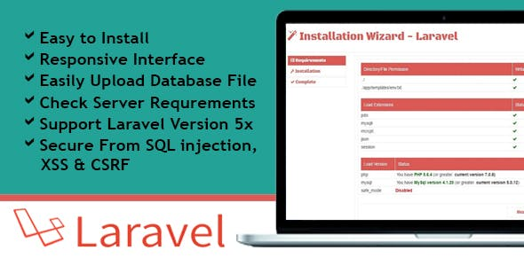 Installation Wizard - Laravel