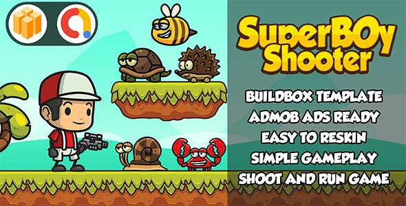 Super Boy Shooter ( BBDOC Buildbox 2.2.8) - Admob