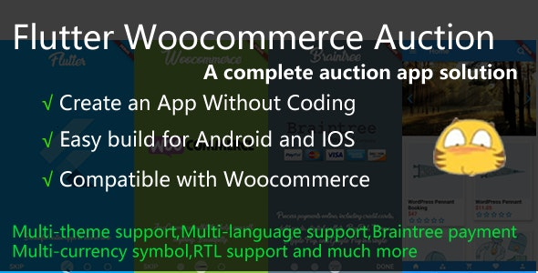 Flutter Woocommerce Auction App - CodeCanyon Item for Sale