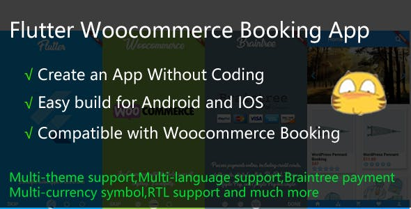 Flutter Woocommerce Booking App