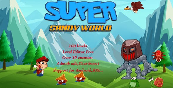 Super Sandy World + Level Editor Full Unity Project with Admob