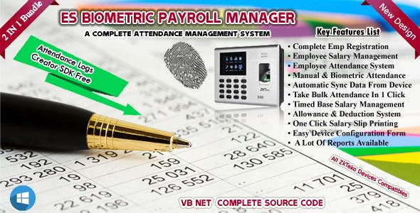 ES Biometric Payroll Manager