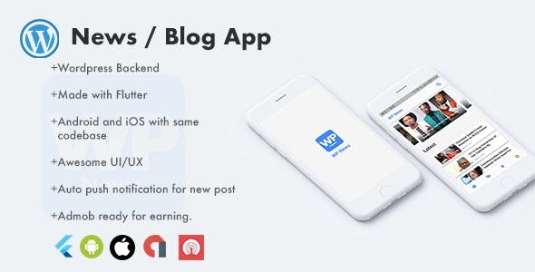 Flutter Wordpress News app