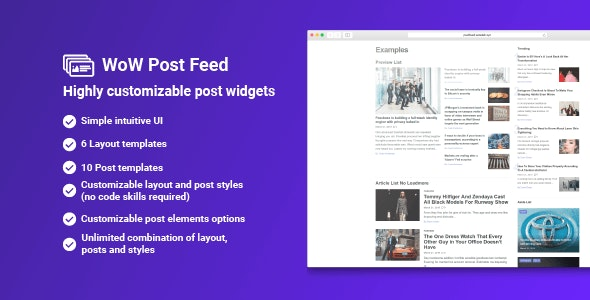 WoW Post Feed - CodeCanyon Item for Sale