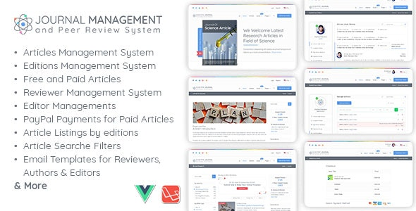 Journal Management and Peer Review System by AmentoTech