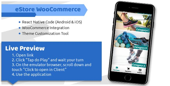 eStore WooCommerce - Android and iOS eCommerce App - CodeCanyon Item for Sale