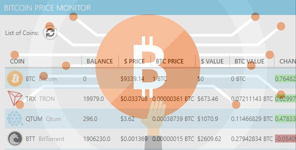 Coin price monitor