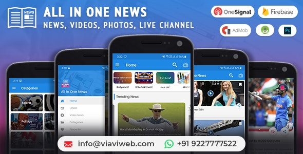 All In One News (News, Videos, Photos, Live Channel) - CodeCanyon Item for Sale