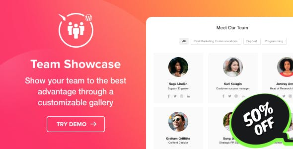 Team Showcase - WordPress Team Showcase plugin
