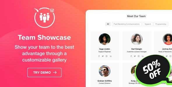 Team Showcase - WordPress Team Showcase plugin - CodeCanyon Item for Sale