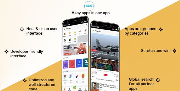 Affiliate Marketing Android App with Scratch Card Feature   Backend included