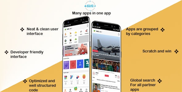 Affiliate Marketing Android App with Scratch Card Feature