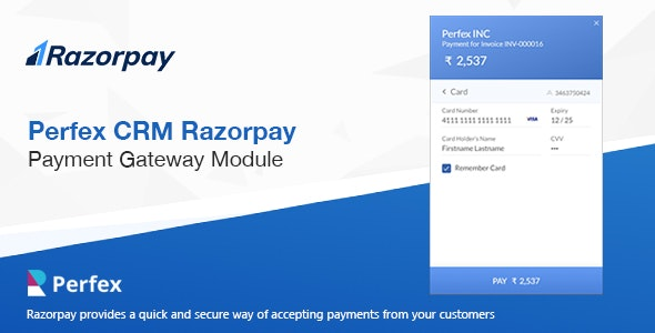 Razorpay Payment Gateway for Perfex CRM - CodeCanyon Item for Sale