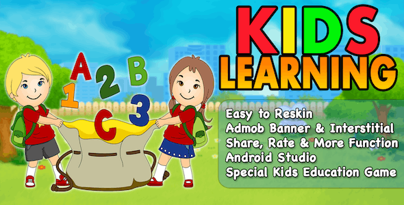 Kids Learning + Kids Education Game + Ready For Publish + Android - CodeCanyon Item for Sale