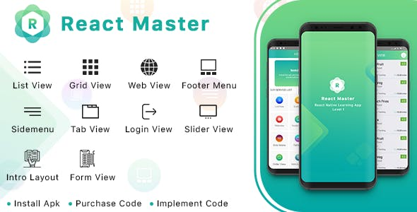 React Master Level 1 - CodeCanyon Item for Sale