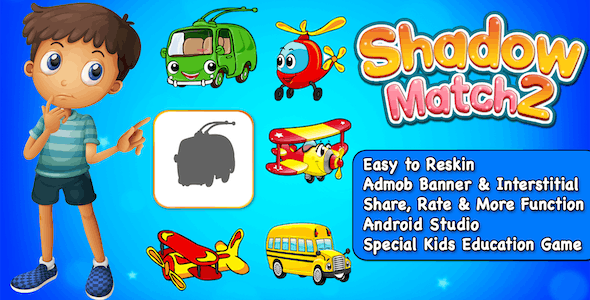 Shadow Match 2 - Puzzle Game For Kids + Ready For Publish + Android