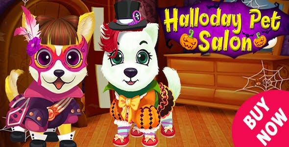 Halloween Pet Hair Salon Game For Kids + Admob + Ready For Publish