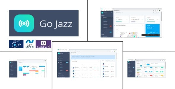 GoJazz Theme Combo - ASP.NET Admin Template - CodeCanyon Item for Sale