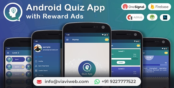 Android Quiz App with Reward Ads (Quiz, Lucky Wheel, Earn Point, LeaderBoard, Lucky Spin) - CodeCanyon Item for Sale