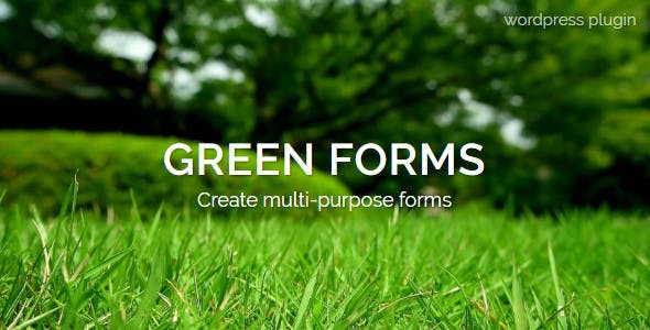 WordPress Form Builder - Green Forms