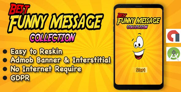 Funny SMS App + Quotes + Ready For Publish + Android Studio