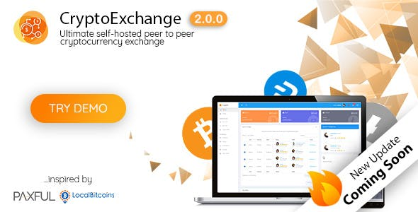 Ultimate peer to peer CryptoCurrency Exchange platform (with self-hosted wallets) - CodeCanyon Item for Sale