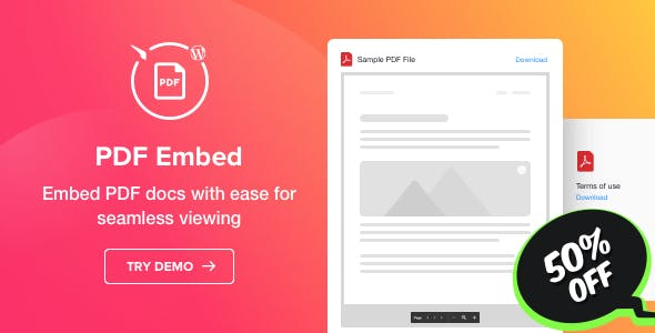 PDF Embed - WordPress PDF Viewer plugin