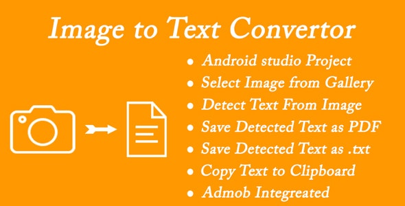 Image To Text - OCR Scanner - CodeCanyon Item for Sale