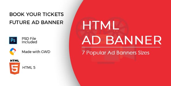 Book Your Tickets Ad Banners