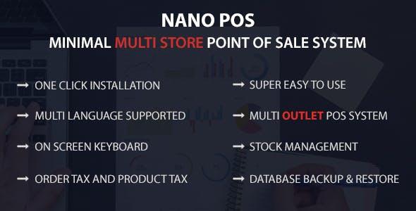 Nano POS - Minimal Multi Store Point Of Sale System