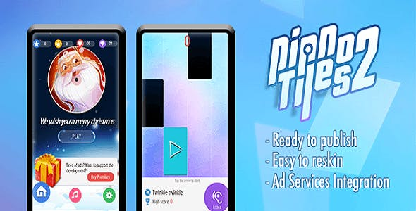 Piano Tiles 2 Template - Full Unity Compelte Project with Admob & Unity Ads